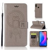 Dream PU kožené peněženkové pouzdro na Xiaomi Mi A2 Lite - šedé