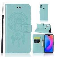 Dream PU kožené peněženkové pouzdro na Xiaomi Mi A2 Lite - světlemodré