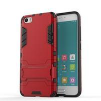 Hybridní odolný kryt na mobil Xiaomi Mi5 - červený