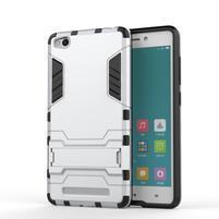 Hybridní gelový obal na Xiaomi Redmi 3 - stříbrný