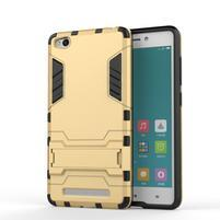 Hybridní gelový obal na Xiaomi Redmi 3 - zlatý
