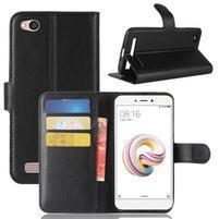 Wallet PU kožené pouzdro na Xiaomi Redmi 5A - černé