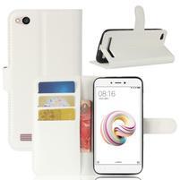 Wallet PU kožené pouzdro na Xiaomi Redmi 5A - bílé