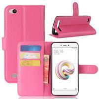 Wallet PU kožené pouzdro na Xiaomi Redmi 5A - rose