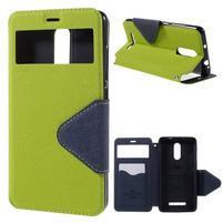 Diary pouzdro s okýnkem na mobil Xiaomi Redmi Note 3  - zelené
