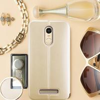 Vintage PU kožené pouzdro na mobil Xiaomi Redmi Note 3 - zlaté