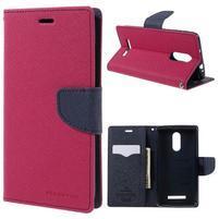 Wallet PU kožené pouzdra na Xiaomi Redmi Note 3 - rose