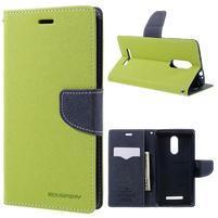 Wallet PU kožené pouzdra na Xiaomi Redmi Note 3 - zelené