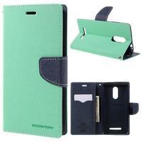 Wallet PU kožené pouzdra na Xiaomi Redmi Note 3 - azurové