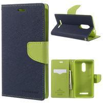 Wallet PU kožené pouzdra na Xiaomi Redmi Note 3 - tmavěmodré