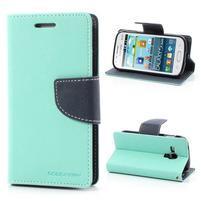 Diary pouzdro na mobil Samsung Galaxy S Duos/Trend Plus - azurové