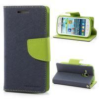Diary pouzdro na mobil Samsung Galaxy S Duos/Trend Plus - tmavěmodré