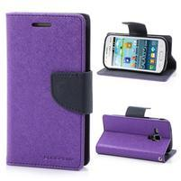 Diary pouzdro na mobil Samsung Galaxy S Duos/Trend Plus - fialové