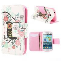 Peňaženkové puzdro pre Samsung Galaxy S Duos / Trend Plus -  sova