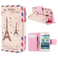 Peňaženkové puzdro pre Samsung Galaxy S Duos / Trend Plus - Eiffelova veža