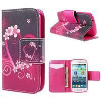 Peňaženkové puzdro pre Samsung Galaxy S Duos / Trend Plus -  srdce