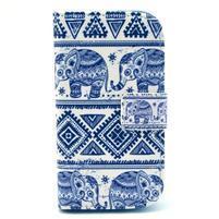 Peněženkové pouzdro na Samsung Galaxy S3 mini - sloni