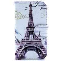 Peněženkové pouzdro na Samsung Galaxy S3 mini - Eiffelova věž