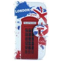 Peněženkové pouzdro na Samsung Galaxy S3 mini - londýnská budka