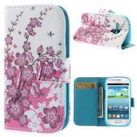 Pouzdro na mobil Samsung Galaxy S3 mini - kvetoucí větvička