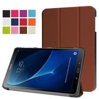 Trifold polohovatelné pouzdro na Samsung Galaxy Tab A 10.1 (2016) - hnědé
