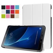 Trifold polohovatelné pouzdro na Samsung Galaxy Tab A 10.1 (2016) - bílé