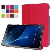 Trifold polohovatelné pouzdro na Samsung Galaxy Tab A 10.1 (2016) - červené