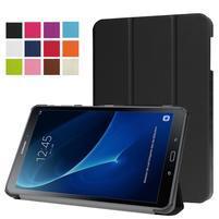 Trifold polohovatelné pouzdro na Samsung Galaxy Tab A 10.1 (2016) - černé