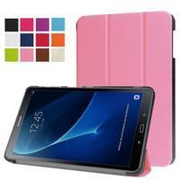 Trifold polohovatelné pouzdro na Samsung Galaxy Tab A 10.1 (2016) - růžové