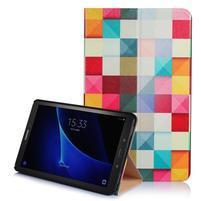 Picture polohovatelné pouzdro na Samsung Galaxy Tab A 10.1 (2016) - čtverečky