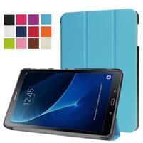 Trifold polohovatelné pouzdro na Samsung Galaxy Tab A 10.1 (2016) - světlemodré