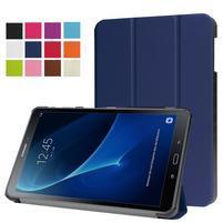 Trifold polohovatelné pouzdro na Samsung Galaxy Tab A 10.1 (2016) - tmavěmodré