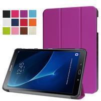 Trifold polohovatelné pouzdro na Samsung Galaxy Tab A 10.1 (2016) - fialové