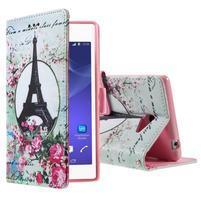 Peněženkové pouzdro na mobil Sony Xperia M2 - Eiffelova věž