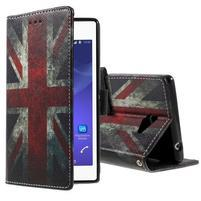Peněženkové pouzdro na mobil Sony Xperia M2 - UK vlajka