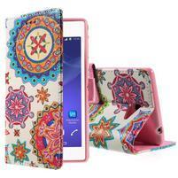 Peněženkové pouzdro na mobil Sony Xperia M2 - mandala