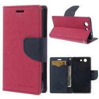Diary peněženkové pouzdro na mobil Sony Xperia Z3 Compact - rose