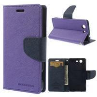 Diary peněženkové pouzdro na mobil Sony Xperia Z3 Compact - fialové