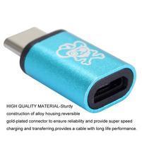 Pirate redukce pro micro USB na USB typ C - modrá