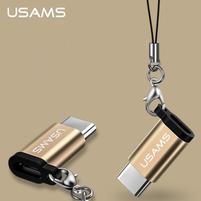 USAMS redukce pro Micro USB na USB typ C - zlatá