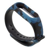 Patty silikonový řemínek pro Xiaomi Mi Band 2 - modré maskování