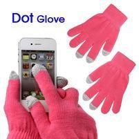 Touch dotykové rukavice na mobil - růžové