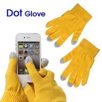 Touch dotykové rukavice na mobil - žluté