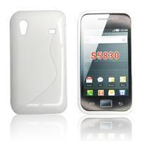 Gelové S-line pouzdro na Samsung Galaxy Ace S5830- bílé