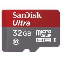 Vysokorychlostní paměťová karta SanDisk Ultra microSDHC 32 GB 98 MB/s A1 Class 10 UHS-I, Android včetně SD adaptéru