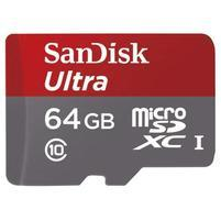 Vysokorychlostní paměťová karta SanDisk Ultra microSDHC 64 GB 98 MB/s A1 Class 10 UHS-I, Android včetně SD adaptéru