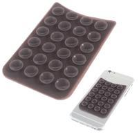 Přilnavý silikonový držák pro mobil a další zařízení - tmavěfialový