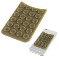 Přilnavý silikonový držák pro mobil a další zařízení - hnědý