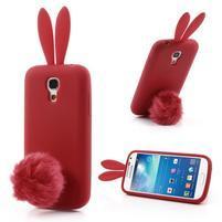 Silikonový obal na Samsung Galaxy S4 mini - červený králík