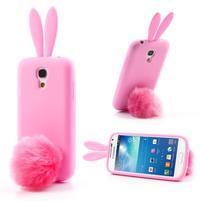 Silikonový obal na Samsung Galaxy S4 mini - růžový králík